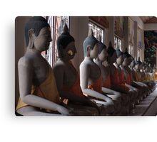 Buddha Row Canvas Print