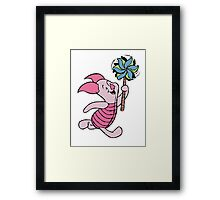 Piglet with a Pinwheel Framed Print