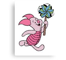 Piglet with a Pinwheel Canvas Print