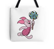 Piglet with a Pinwheel Tote Bag
