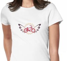 FlutterBike Red White Blue Womens Fitted T-Shirt
