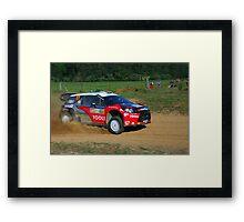 Petter Solberg SS12 Rally Australia Framed Print
