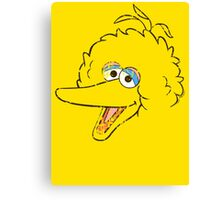 Big Bird Face Canvas Print