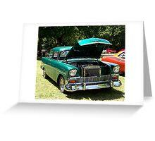 1956 Chevrolet Del Ray 2 Door Greeting Card