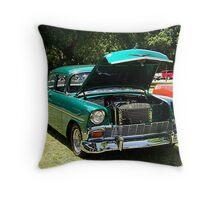 1956 Chevrolet Del Ray 2 Door Throw Pillow
