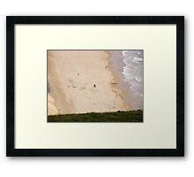 walk on the beach - Near Malin Head in North Donegal Ireland Framed Print