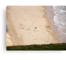 walk on the beach - Near Malin Head in North Donegal Ireland Canvas Print