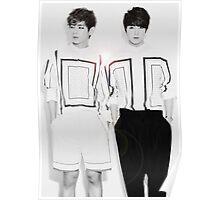 V/Taehyung and Jungkook of BTS inspired Poster