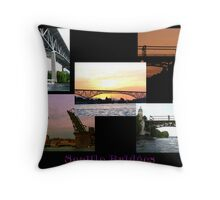 Seattle Bridges Throw Pillow