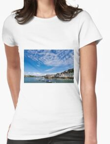 View from river Dart towards Dartmouth, Devon, England  Womens Fitted T-Shirt
