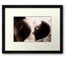"""Whole Wide World In His Hands"" Framed Print"