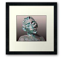 Dude - sculpture Framed Print