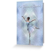 Dancing Fairy On Ice (For Someone Special) Greeting Card