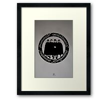 LOTR II silk screen Framed Print