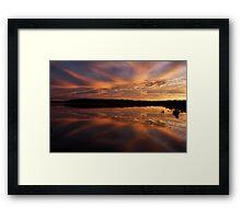 Lake Wollumboola Sunset #2 Framed Print