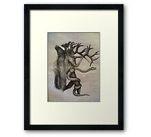 embracing the beast within Framed Print