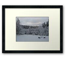 Tranquil Winter Bliss Framed Print