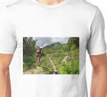 Tourists climbing the Pirin mountain in Bulgaria Unisex T-Shirt