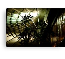 Bamboo Fan - Sihouette 05 Canvas Print