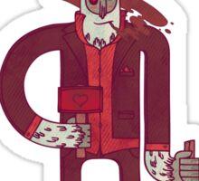 Anton, The Valentine's Yeti Sticker