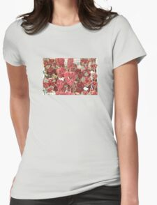 Hearts Full Of Flowers Womens Fitted T-Shirt
