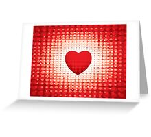 Valentines Day Retro Heart Greeting Card