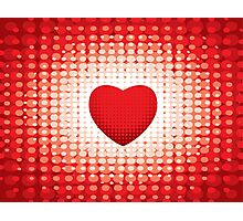 Valentines Day Retro Heart Photographic Print