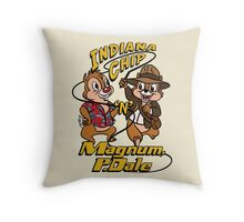 Indiana Chip 'n' Magnum, P.Dale Throw Pillow