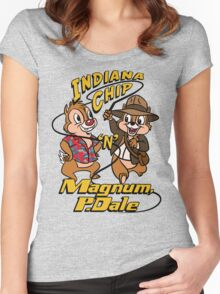Indiana Chip 'n' Magnum, P.Dale Women's Fitted Scoop T-Shirt