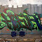 Graffiti Artist at Work by tano