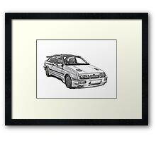 Ford Sierra RS 500 Cosworth 1980s Framed Print