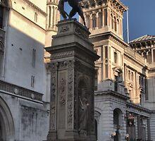 The Temple Bar Memorial (1880) London by Allen Lucas