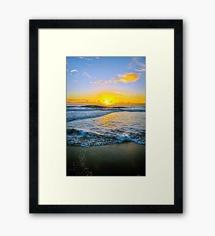 Twin Waters Dawn Framed Print