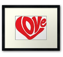 LOVE In The Shape Of A Heart Framed Print