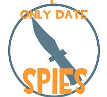 I only date spies- BLU by macncheesecabra