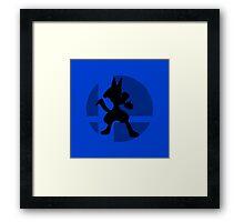 Smash Bros - Lucario Framed Print