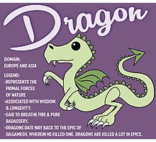 Dragon With Title Photographic Print