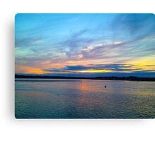 Jersey Sunset Canvas Print