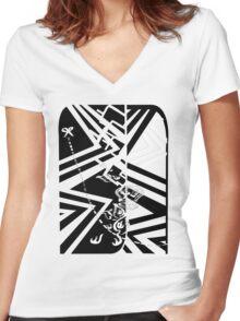 cutandpaste Women's Fitted V-Neck T-Shirt