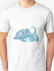 Octopus blue watercolor T-Shirt