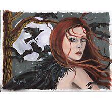 Crow Goddess Photographic Print
