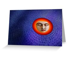 The eye of the Buddha. Greeting Card