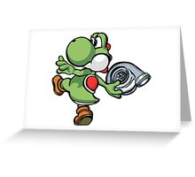 Yoshi throwing turbo Greeting Card