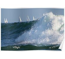 Sailing on the waves Poster