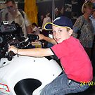 Tigerboy9 on police motorbike by tigerboy9