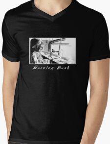 Burning Bush T-shirt Mens V-Neck T-Shirt