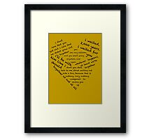 Quotes of the Heart - Amy/Rory (Black) Framed Print
