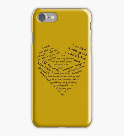 Quotes of the Heart - Amy/Rory (Black) iPhone Case/Skin