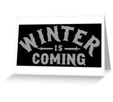 Winter Is Coming Cross Stitch Design II Greeting Card