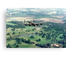 """Lancaster B.1 """"City of Lincoln"""" over Burghley House Canvas Print"""